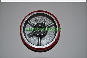 "Picture of 5"" x 2"" Polyurethane on Cast Iron Wheel for Casters or Equipment (#111917820470)"