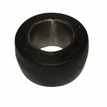 Picture of 10 X 5 X 6.25  Forklift Tire Black Rubber - Smooth - !! Cheap Shipping !! (#121084440556)