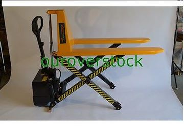 "Picture of Electric Scissor High Lift Pallet Jack Truck 3,300 lb 27"" x 45"" (#121721276431)"