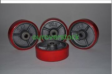 "Picture of 6"" x 2"" Polyurethane on Cast Iron Roller Bearing Wheel - SET OF 4 (#121909612466)"