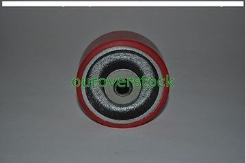 "Picture of 4"" x 2"" Polyurethane on Cast Iron Wheel for Casters or Equipment (#121909614923)"