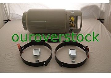 Picture of FORKLIFT PROPANE TANK LP LPG - NEW 33.5 LB WITH TANK BRACKET (#131536680682)