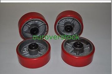 "Picture of 5"" x 2"" Polyurethane on Cast Iron Roller Bearing Wheel - set of 4 (#131737414687)"