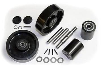 Picture of Atlas Zenith (Type 9) Pallet Jack Complete Wheel Kit (Includes All Parts Shown) (#131813083615)