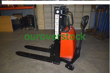 "Picture of Battery Lift Manual Push Stacker 2,200 lb 36"" lift height (#132132772374)"