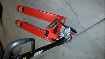 "Picture of NEW PALLET JACK - 5500 lb. Cap. - 20.5""x48"" PALLET TRUCK (#132245620615)"